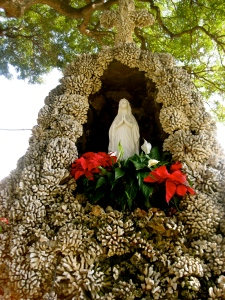Mother Mary shrine at St. Michael Church, Big Island